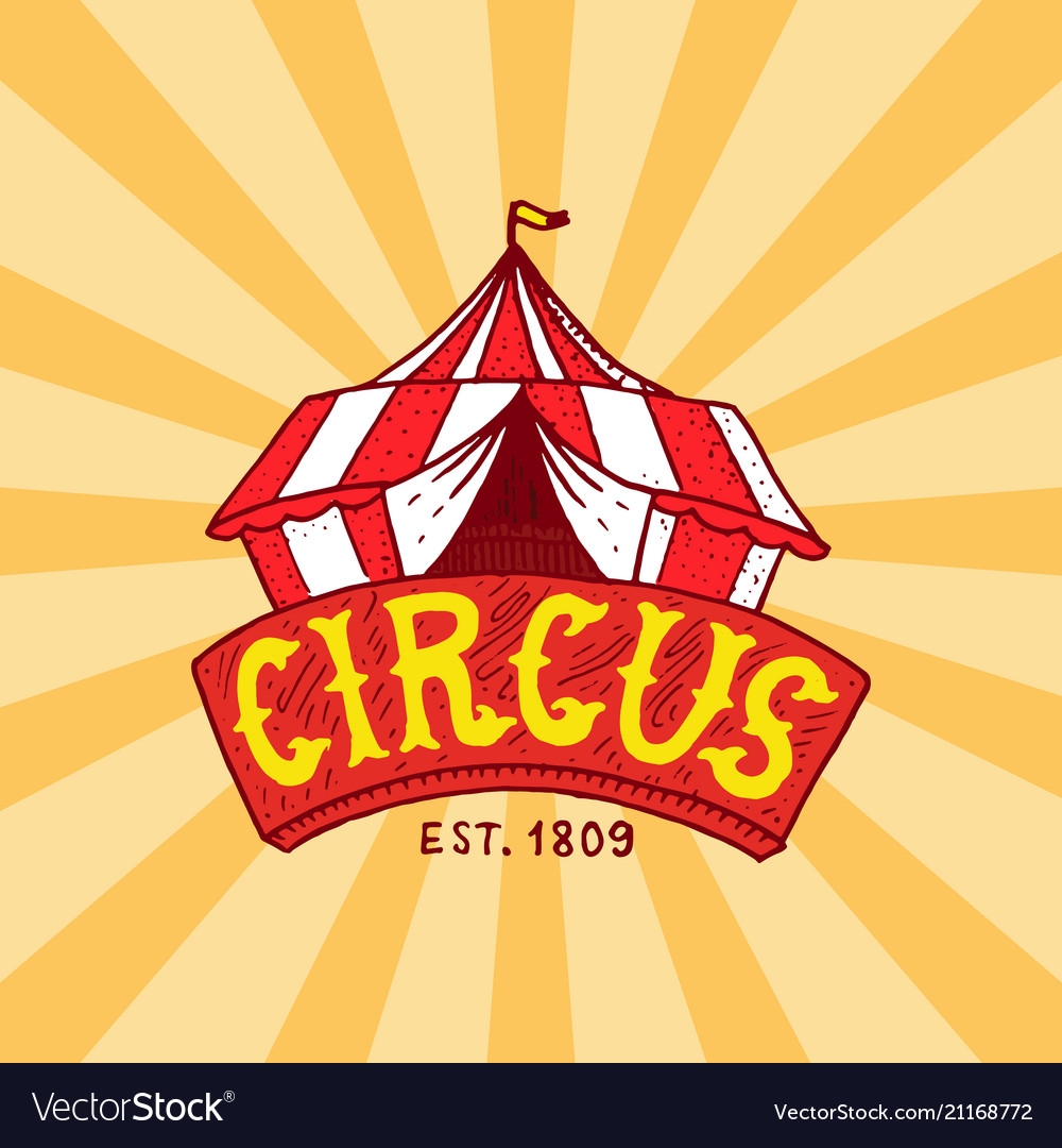 Circus tent badge template arena for performances