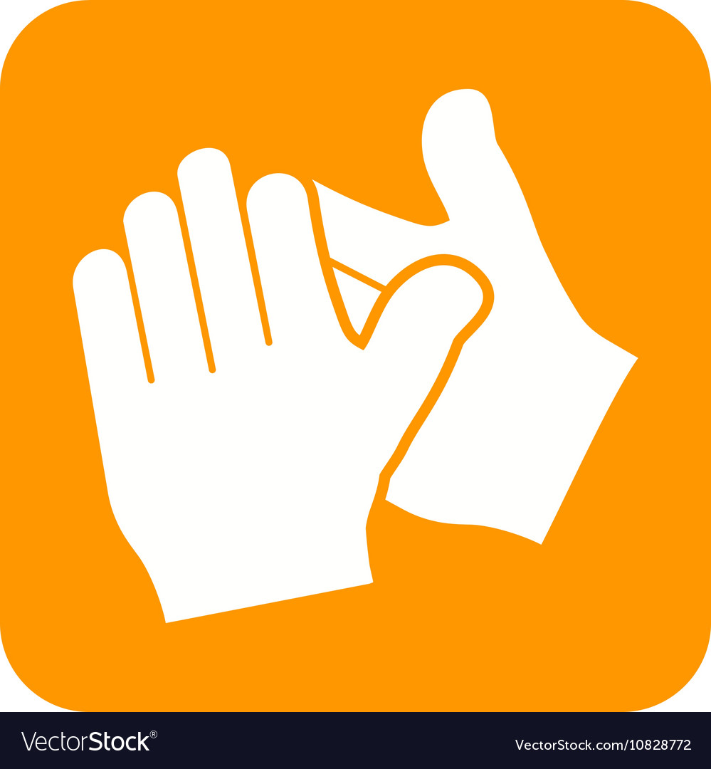 clapping hands royalty free vector image vectorstock