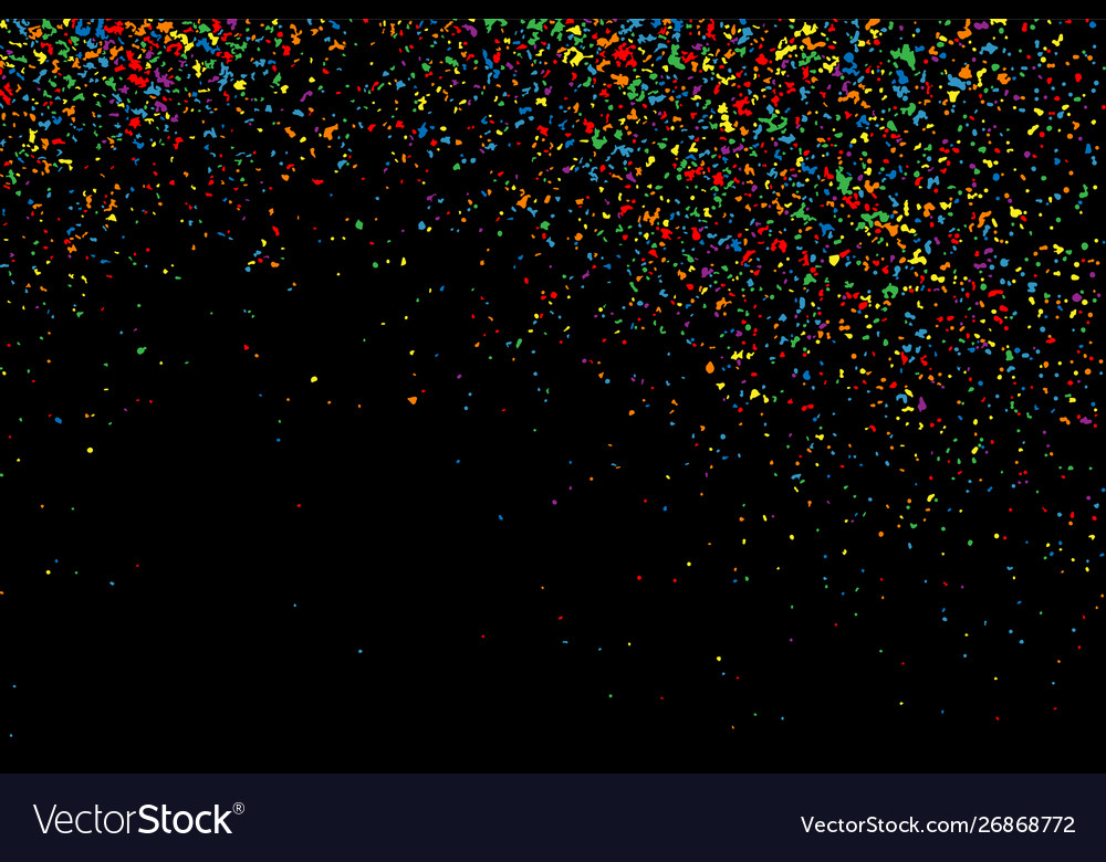 Colorful explosion confetti colored stains and