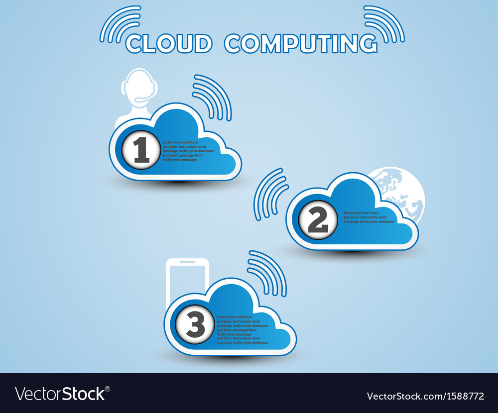COULD COMPUTING CLASSIFICATION BLUE vector image