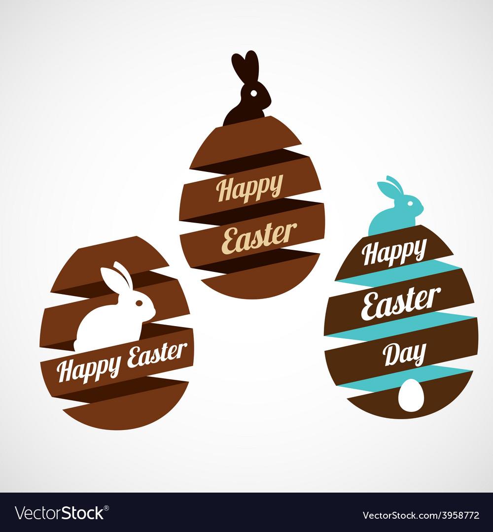 Easter egg ribbons set