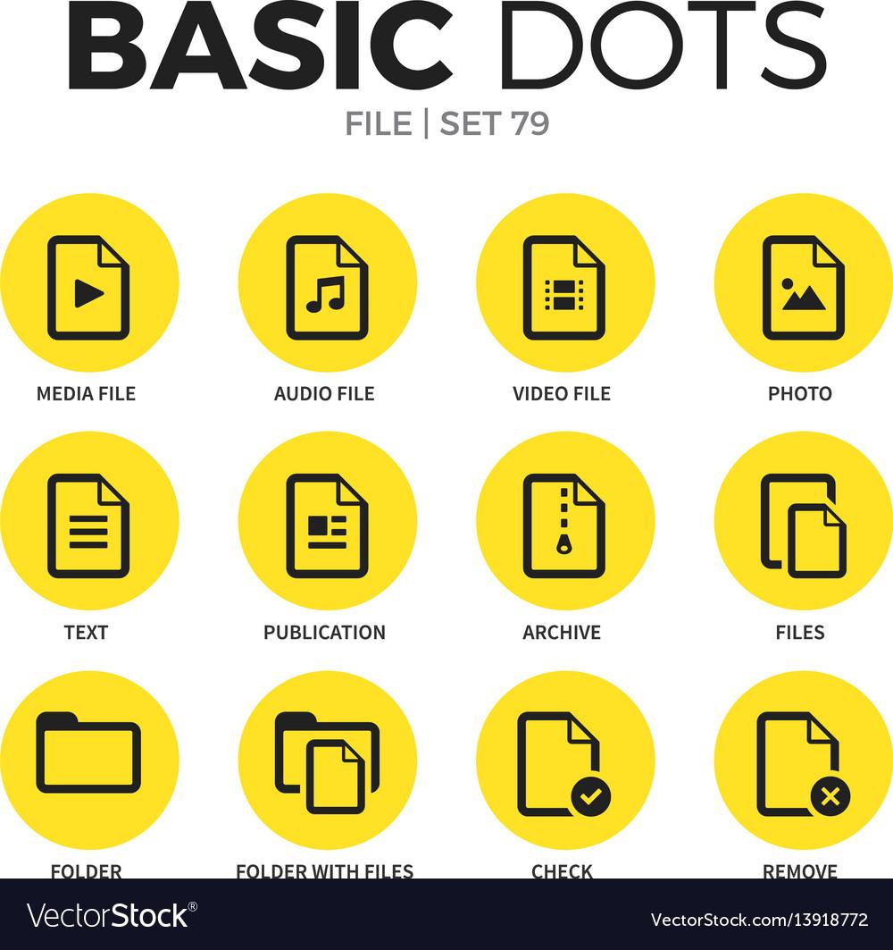 File flat icons set