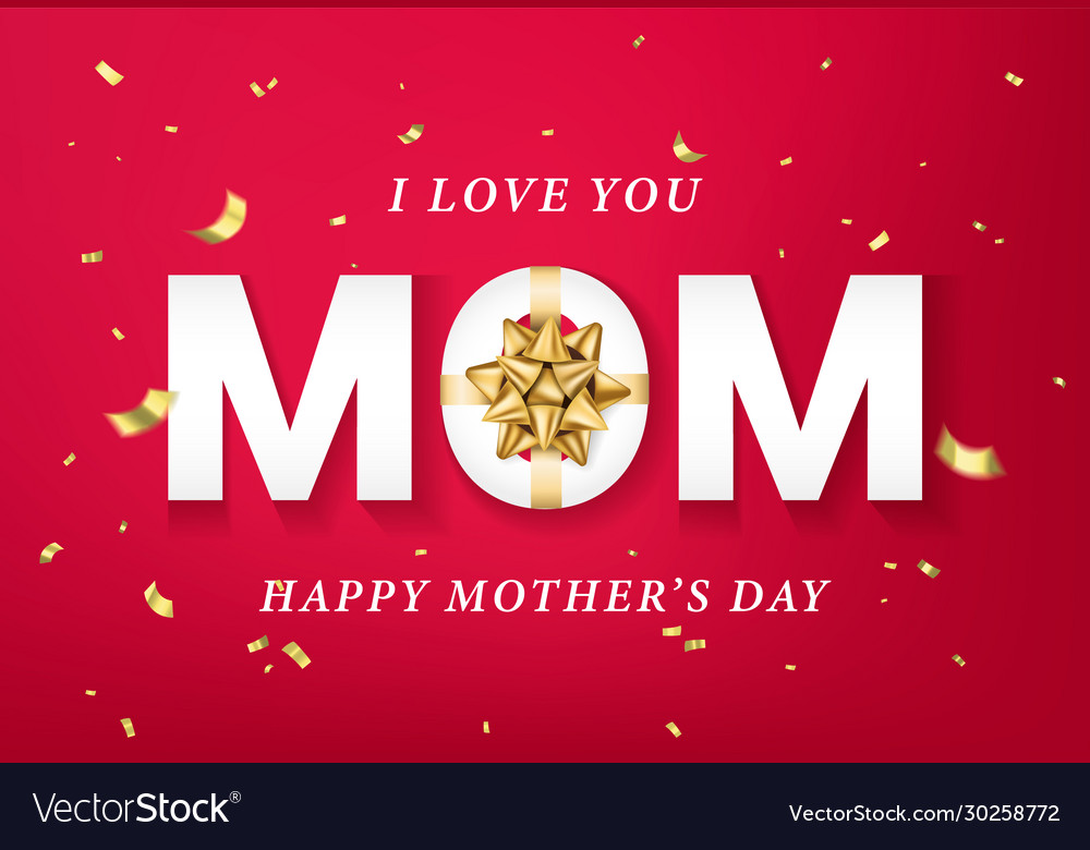 Happy mothers day greeting card banner poster