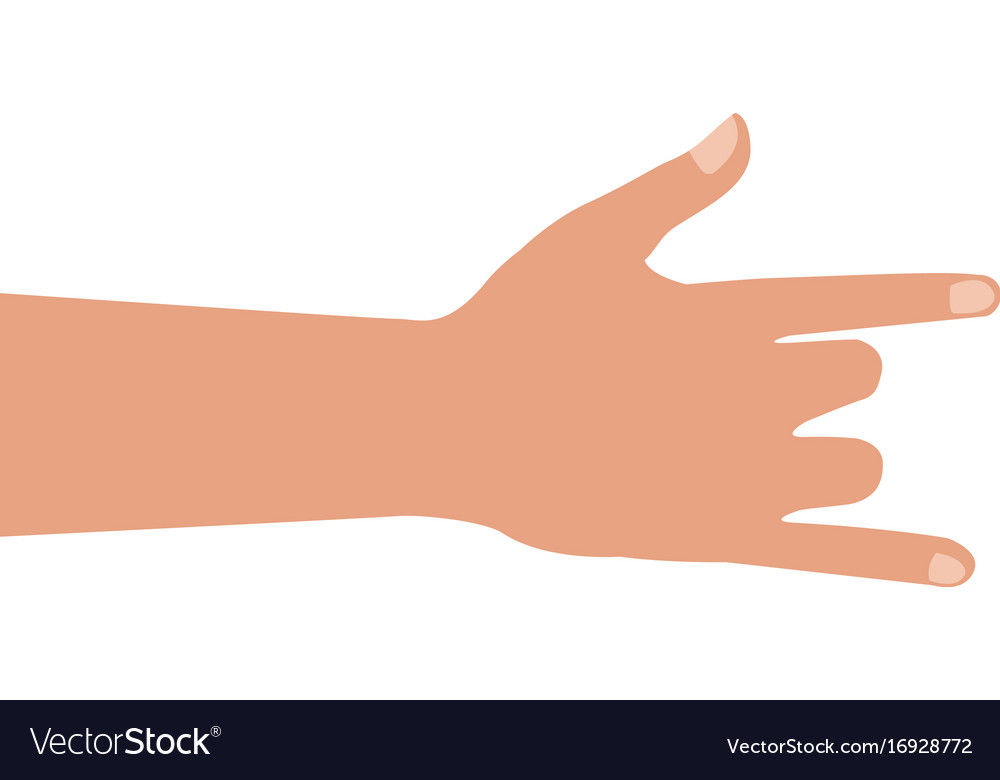 Human hand rock and roll gesture icon