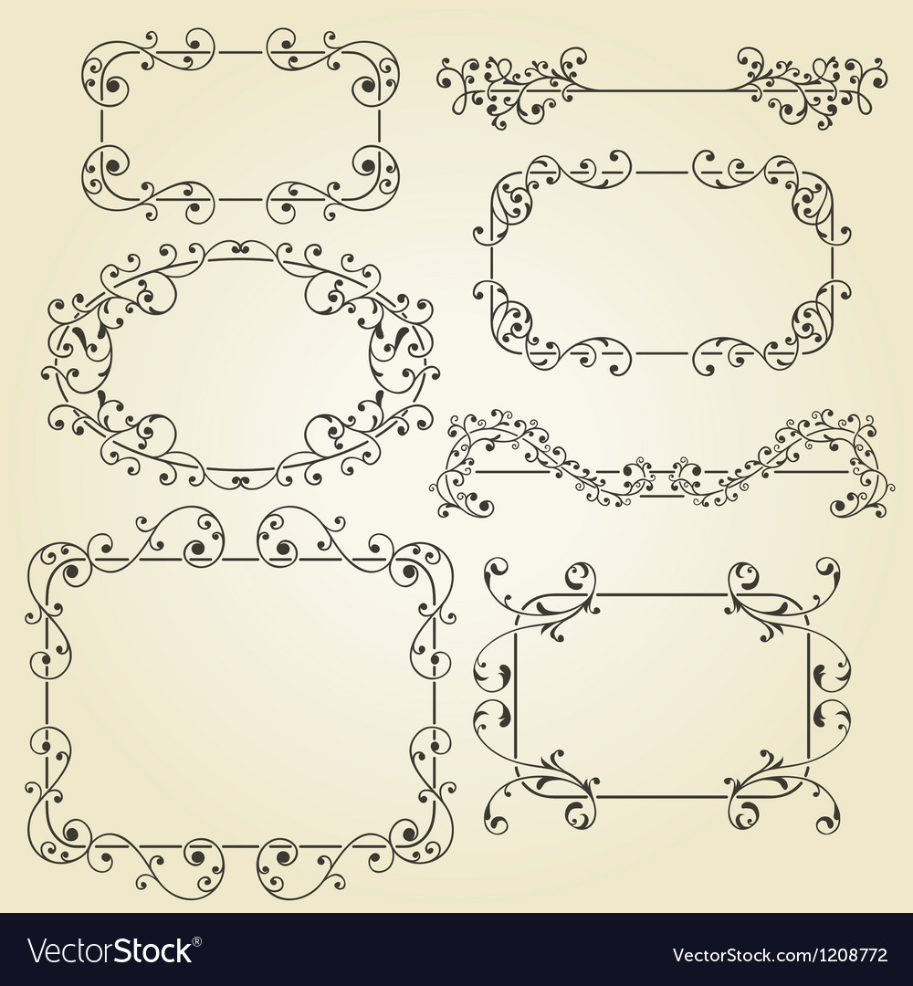 Lacy vintage floral design elements