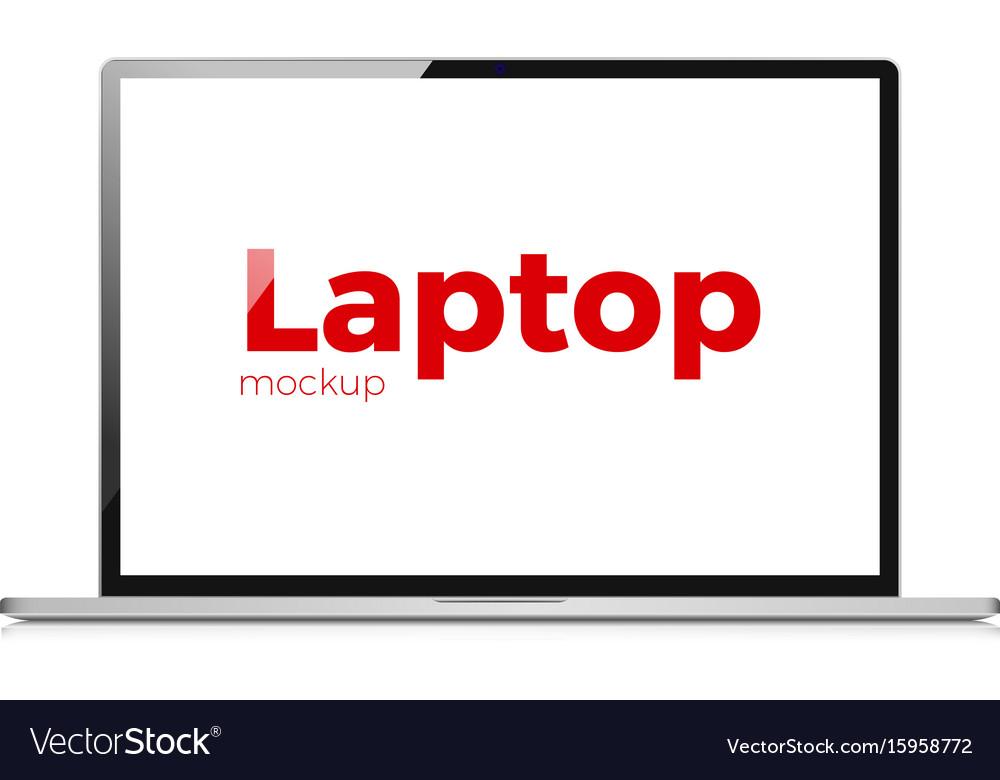 Laptop flat realistic icon modern laptop vector image