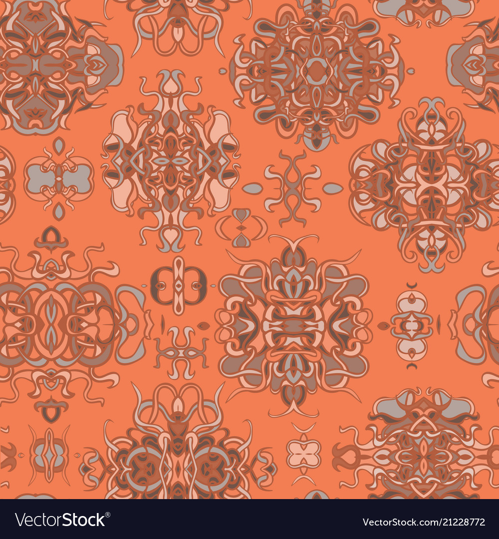 Seamless pattern with colorful abstract shape