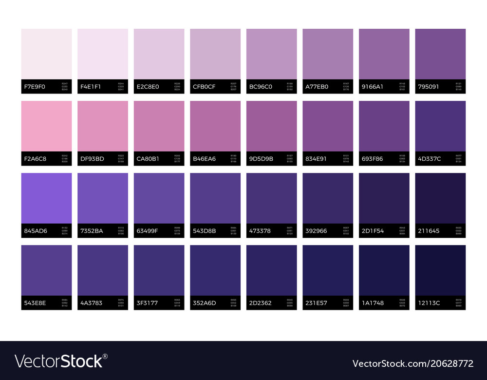 Trendy ultra violet swatches new season fashion vector image