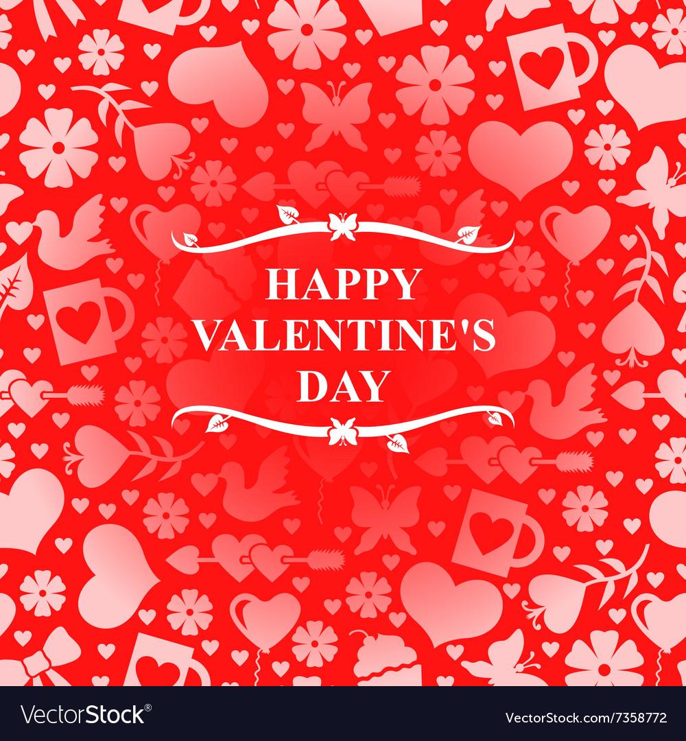 Valentine day red