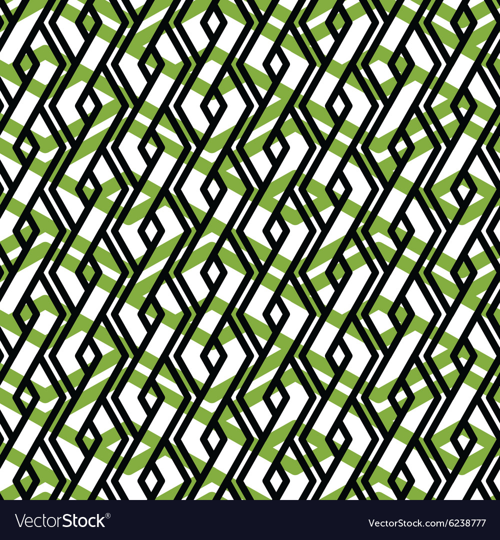 Bright rhythmic textured endless pattern green vector image