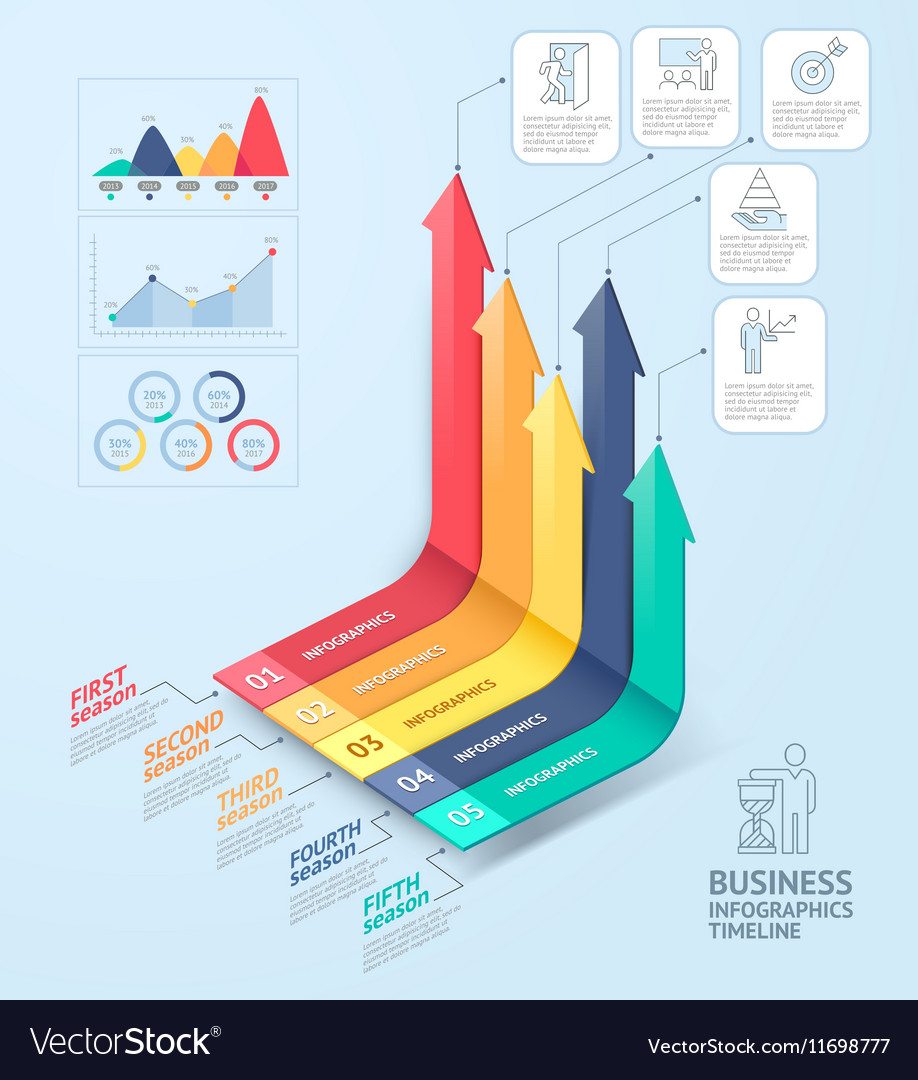 Business arrows infographics template vector image