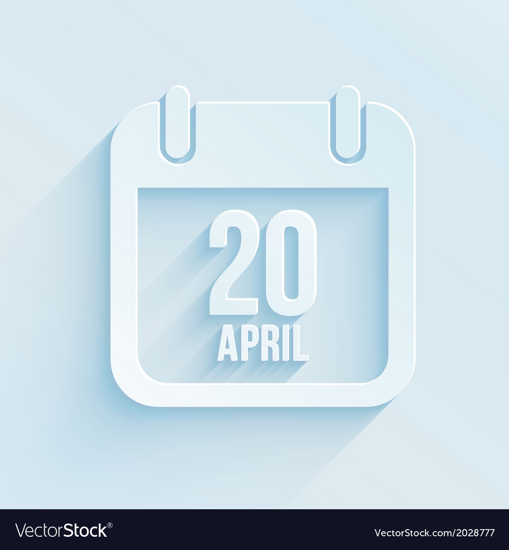 Calendar apps icon 20 april 2014 Easter day