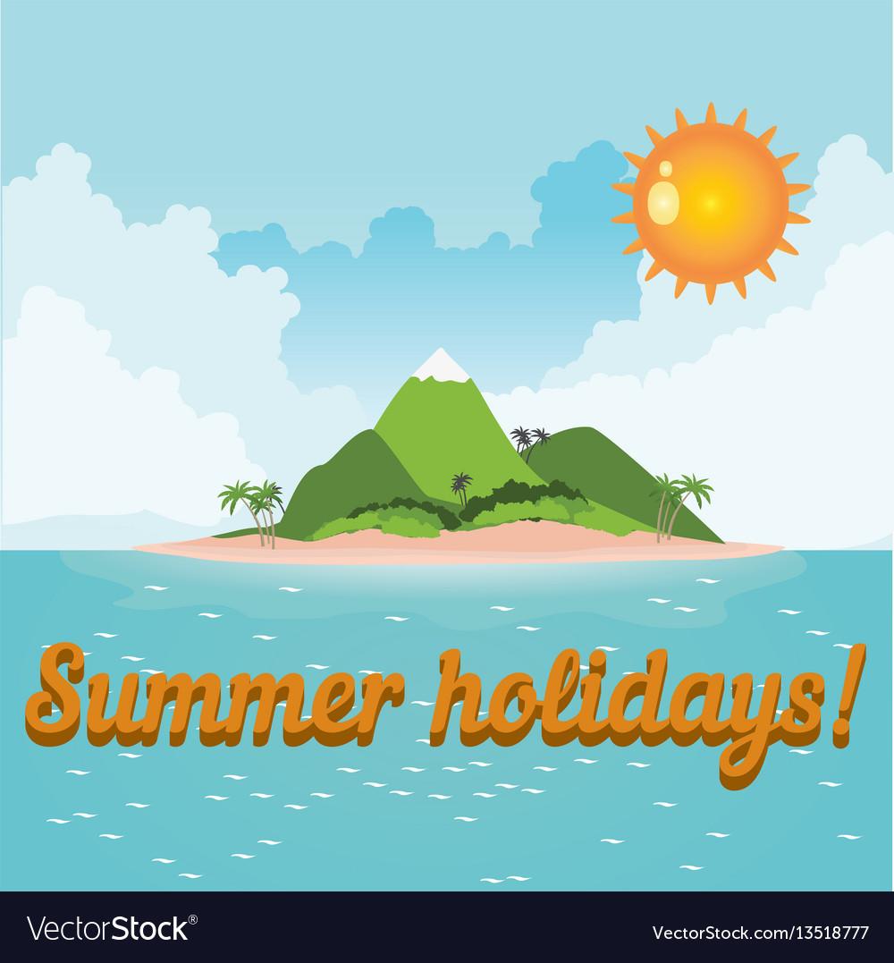Card summer vacation
