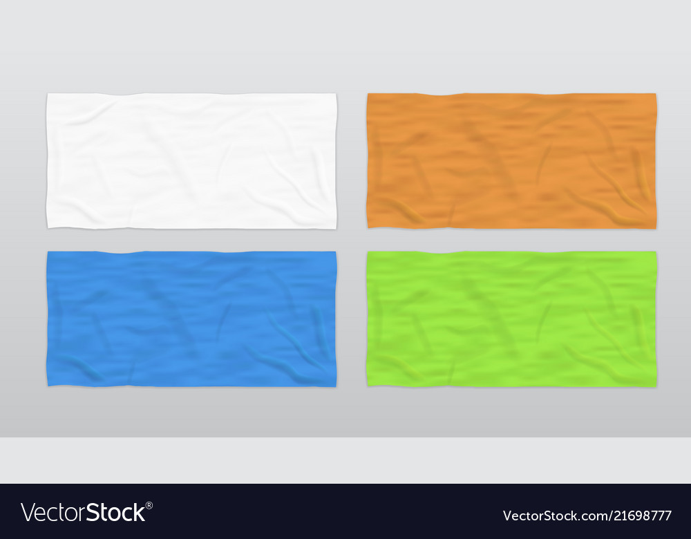 Soft Beach Towels For Branding Vector Image