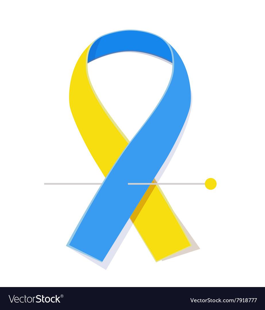 Down syndrome awareness ribbon vector image
