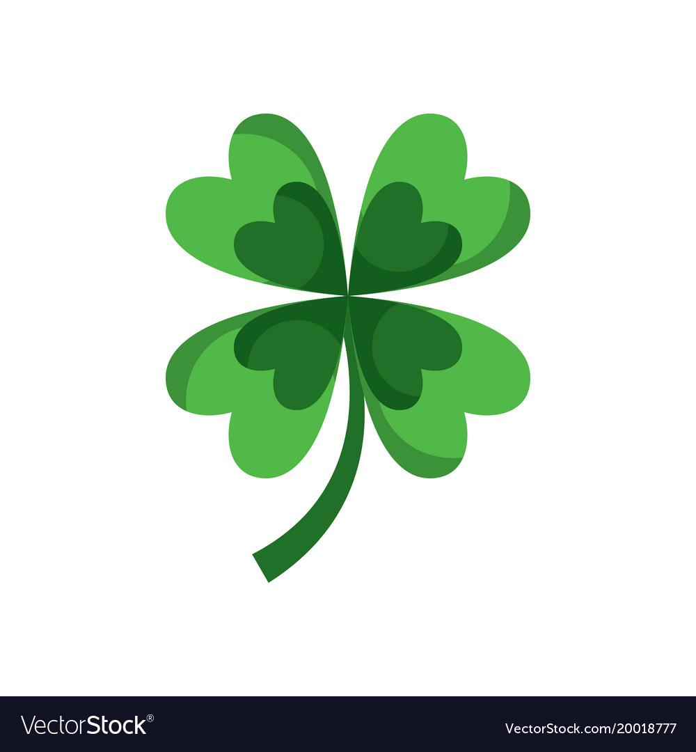 Four Leaf Clover Good Luck Vector Image