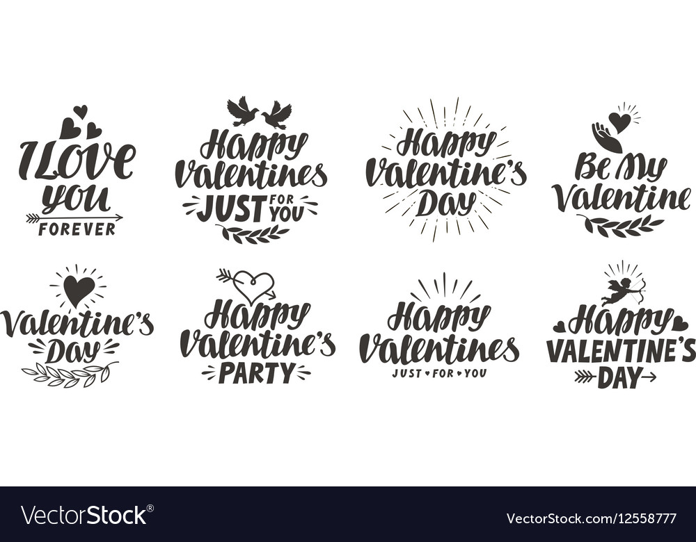 Happy Valentine s day Collection beautiful labels
