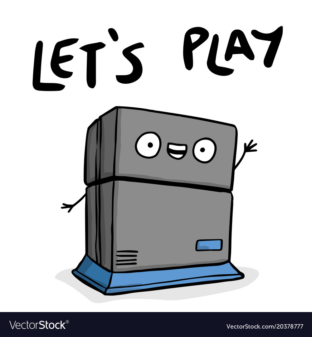 Lets play game machine background image vector image
