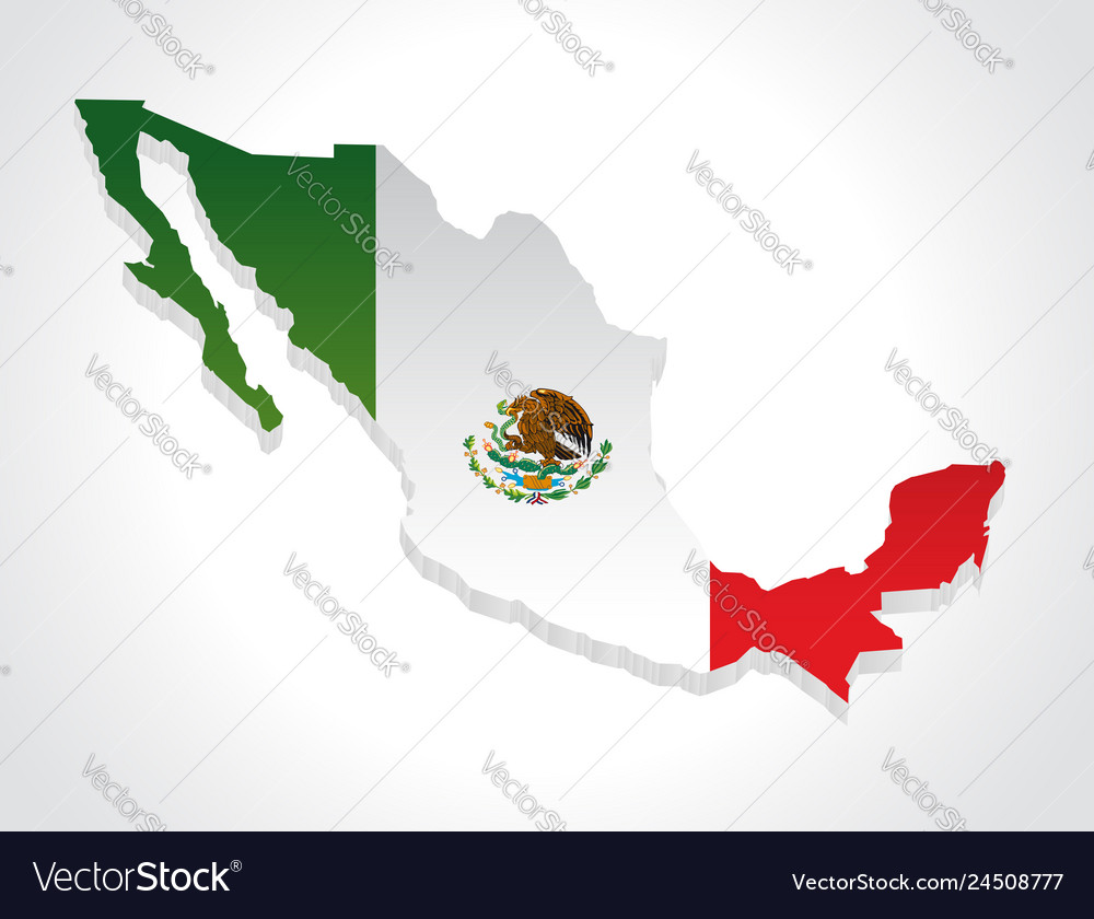Map mexico 3d