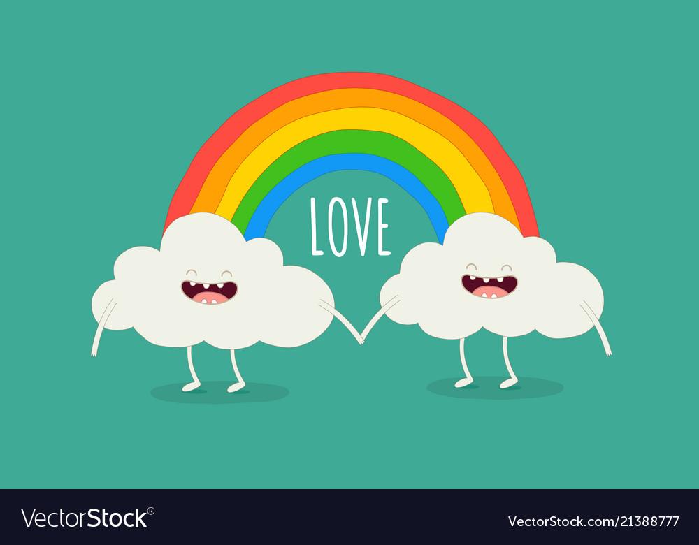 Rainbow among the clouds
