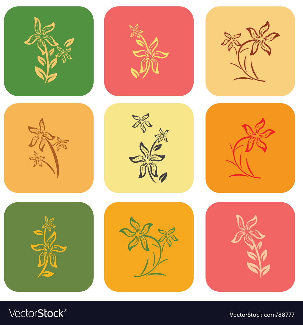 Tile flower background