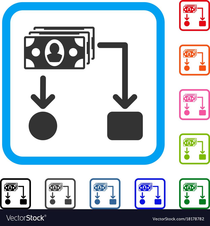 Cashflow framed icon