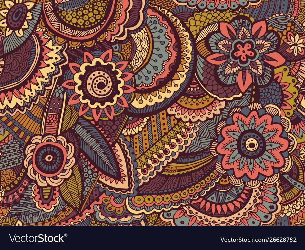 Decorative hand drawn doodle nature ornamental