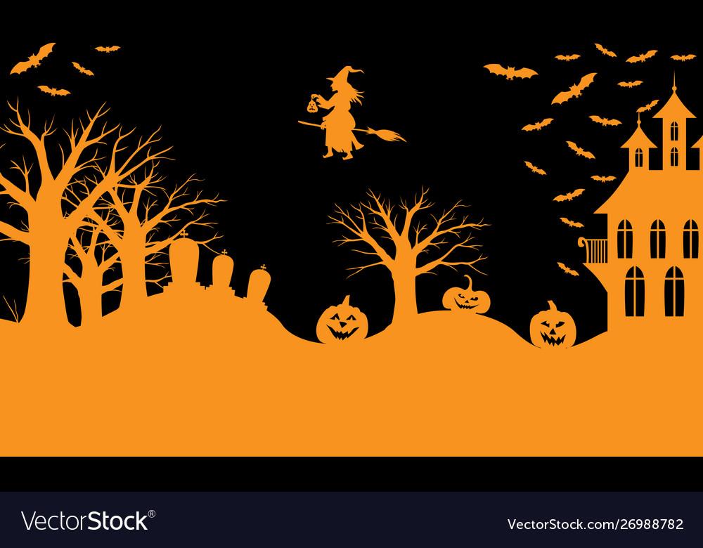 Halloween greeting banner