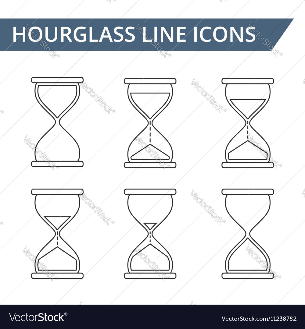 Hourglass Line Icons