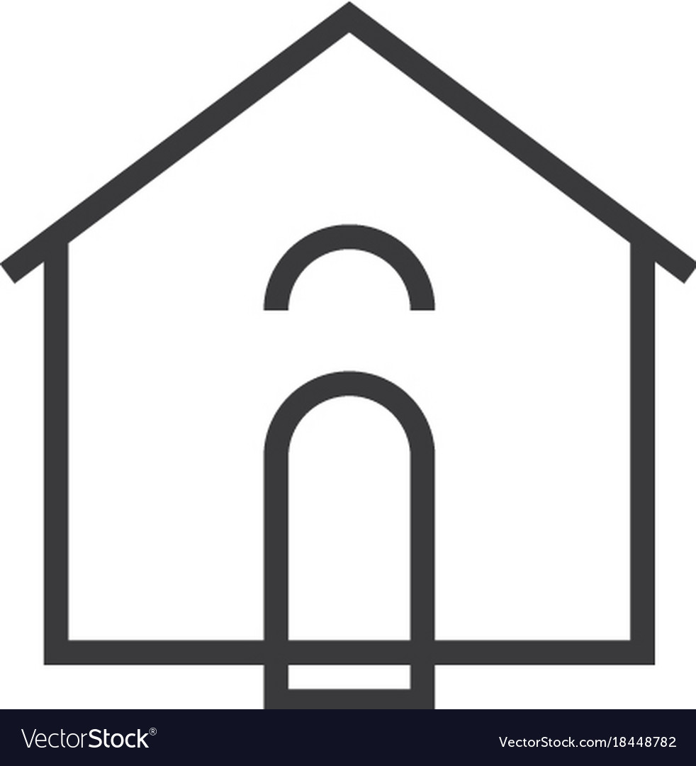 House icon line style