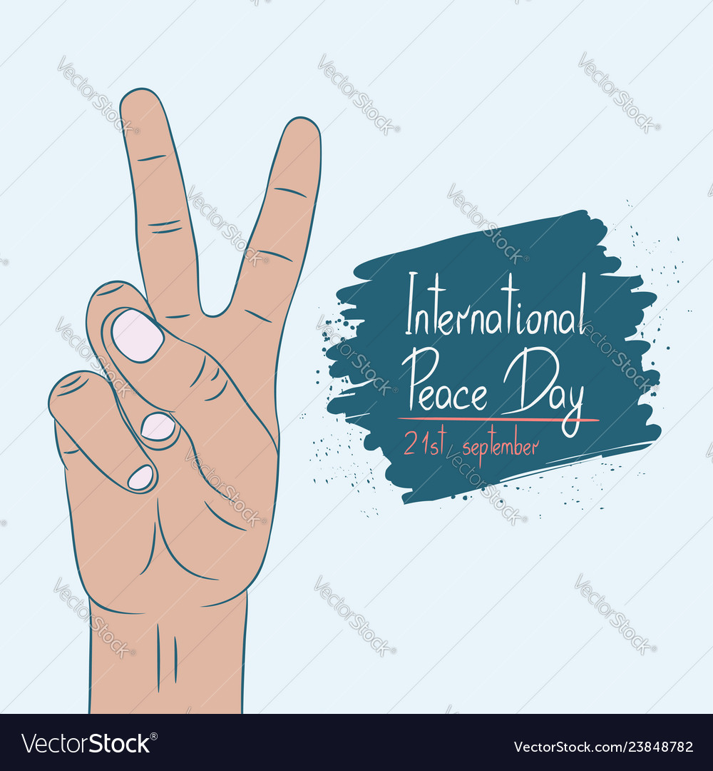 International day of peace - poster template