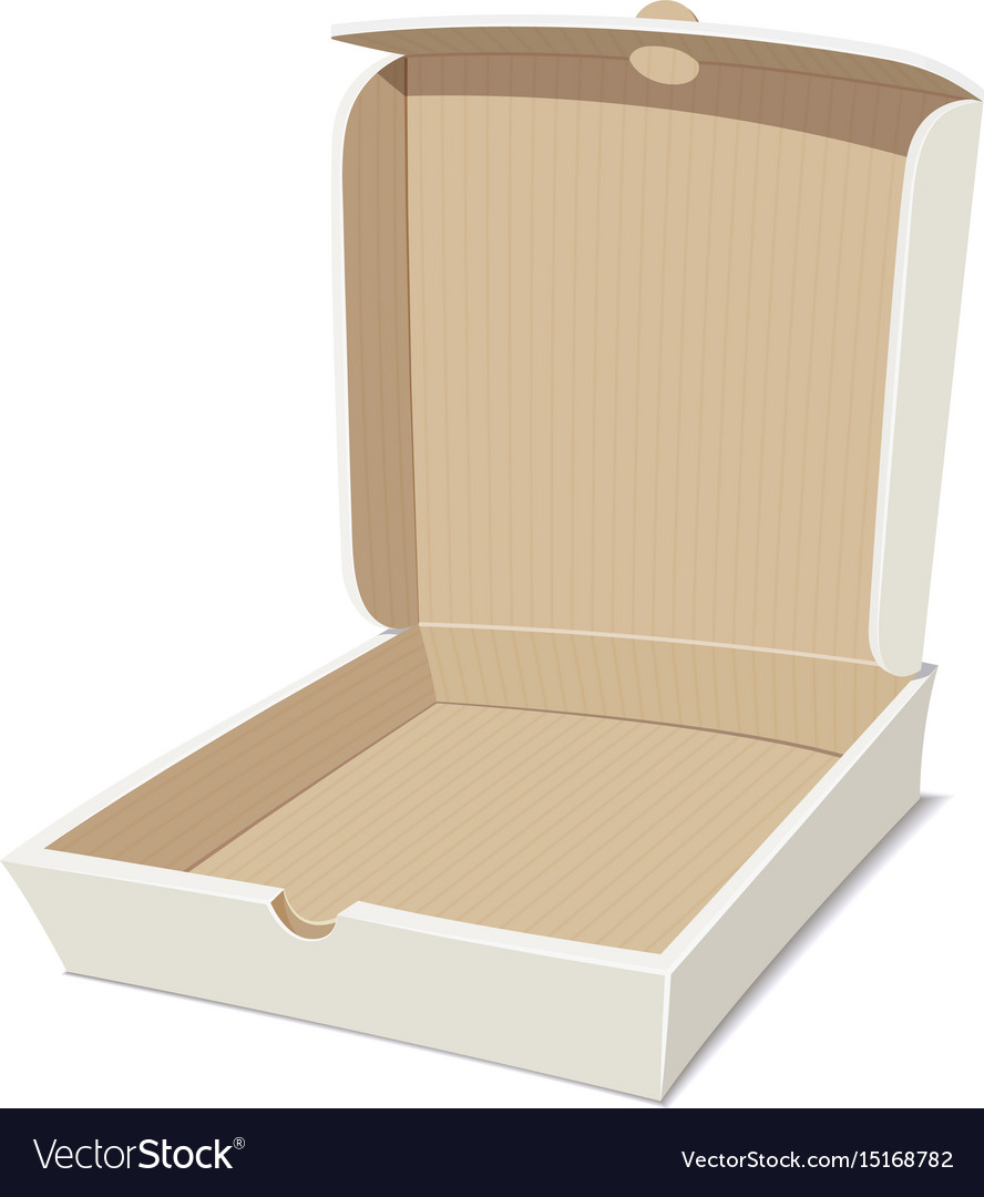 Open box for pizza vector image