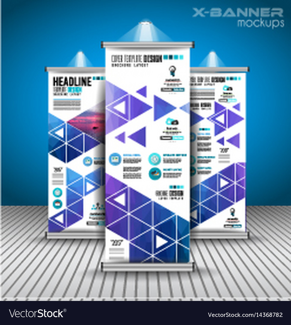 Set advertisement roll up business flyers or