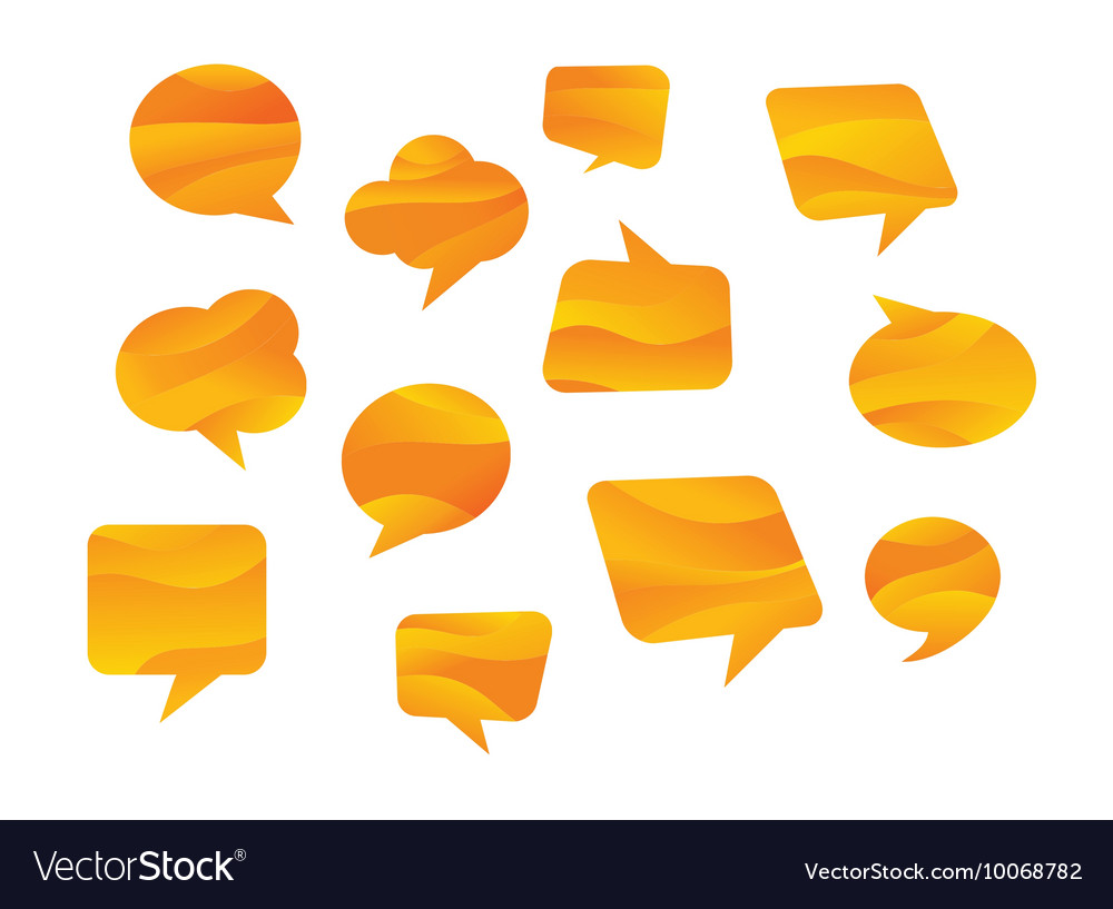Speech bubbles coloured in honey colours vector image