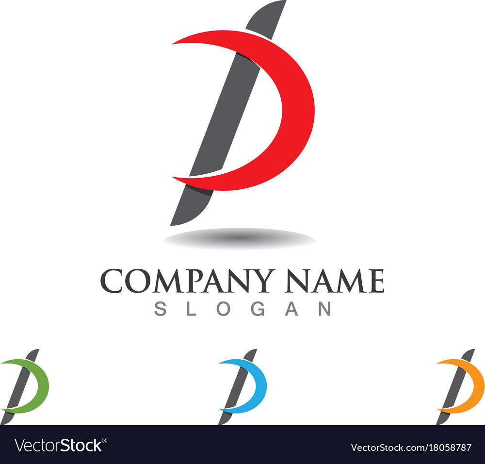 business corporate letter p logo design royalty free vector