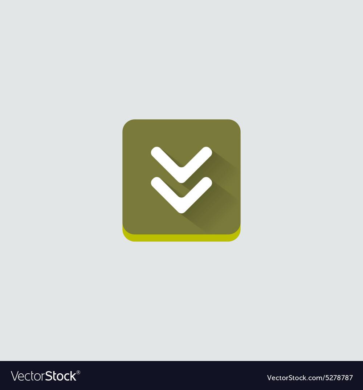 Colorful download web button Modern flat design