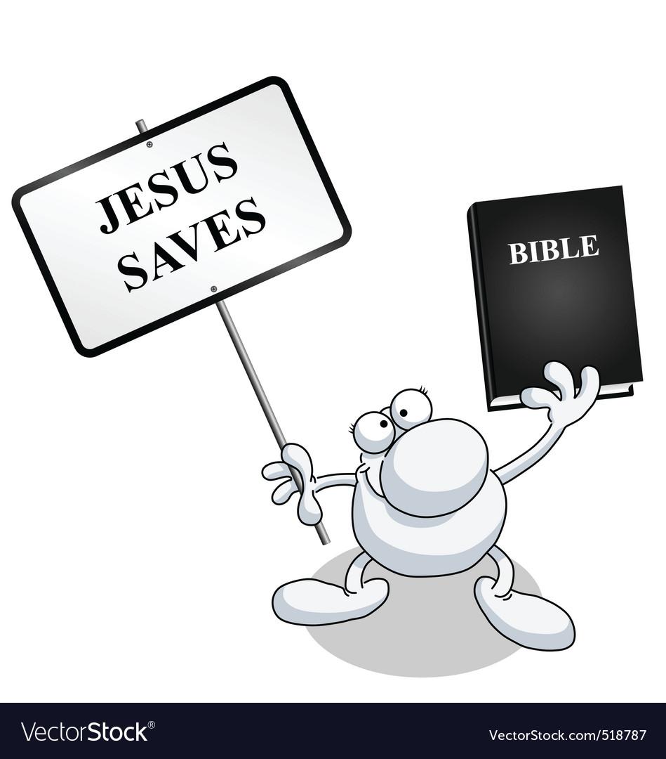 Man sign bible