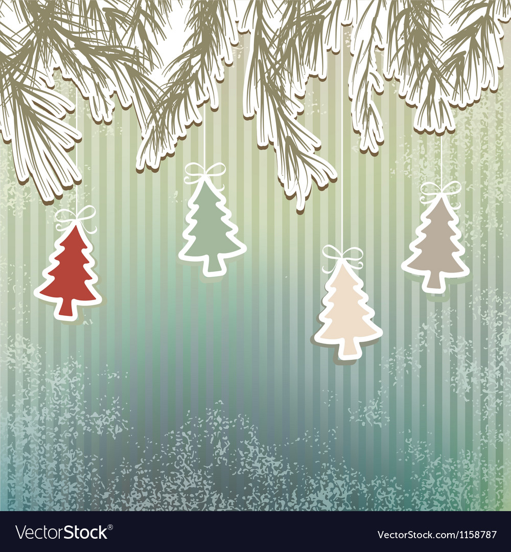 New Years holiday background tree EPS8