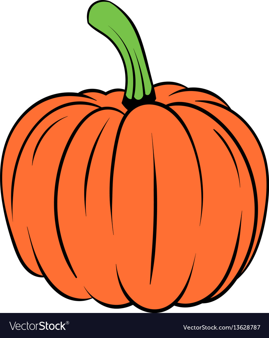 Pumpkin icon cartoon