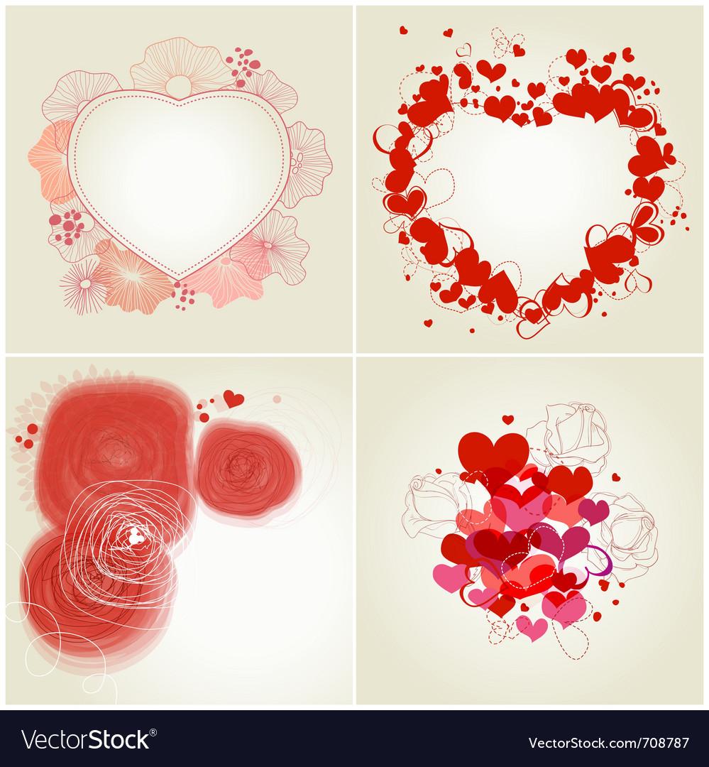 Romantic greeting cards