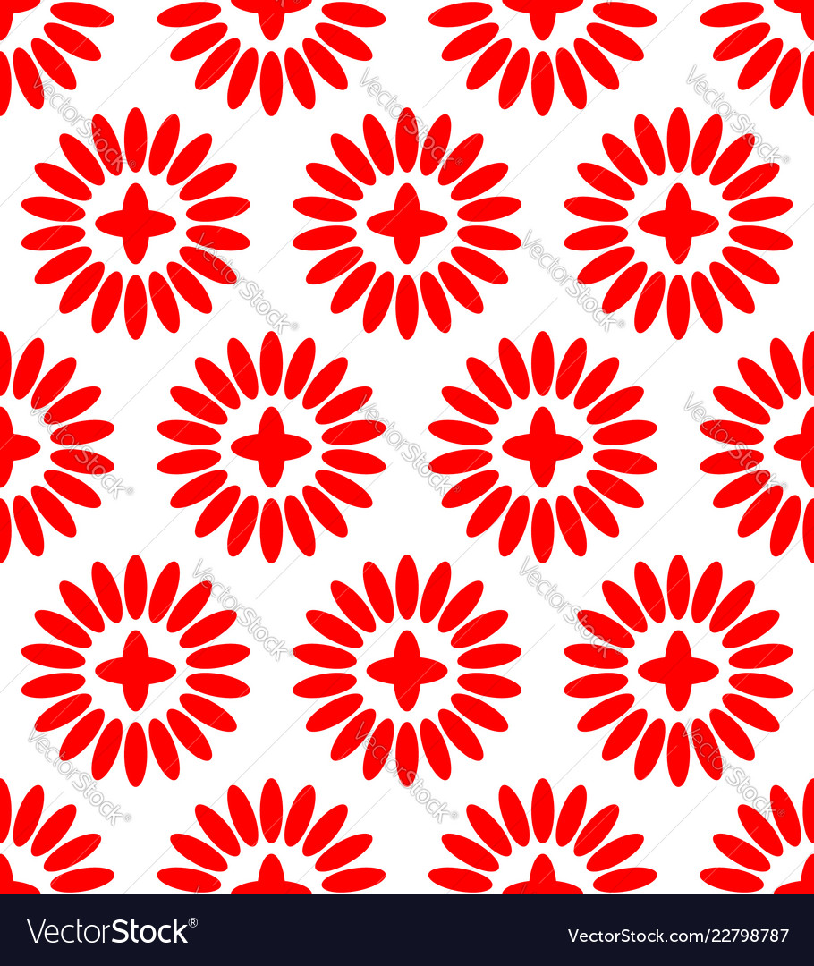 Simple floral pattern repeatable