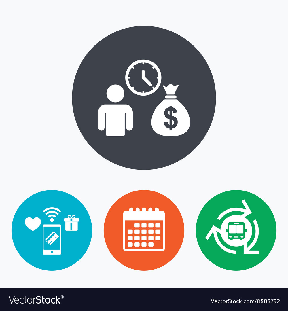 Bank loans sign icon Get money fast symbol