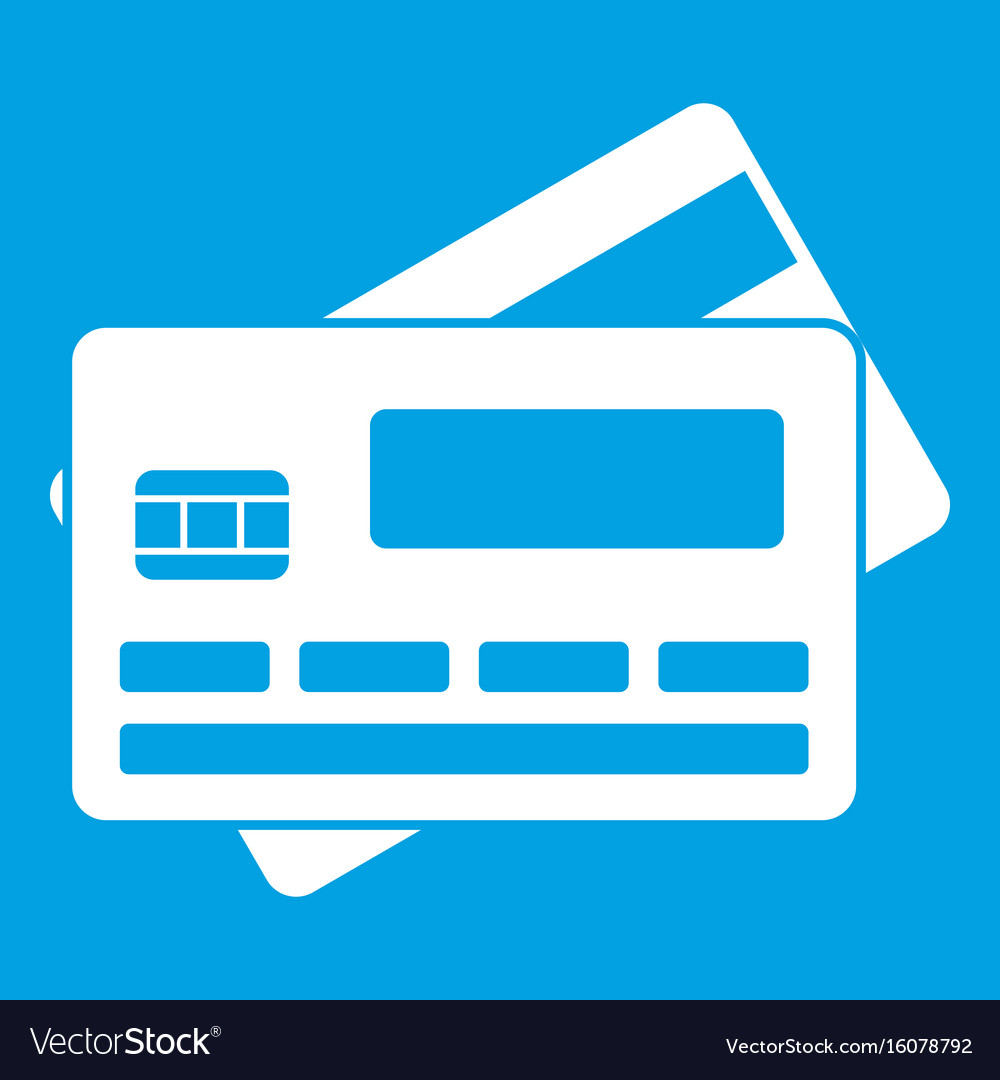 Credit card icon white