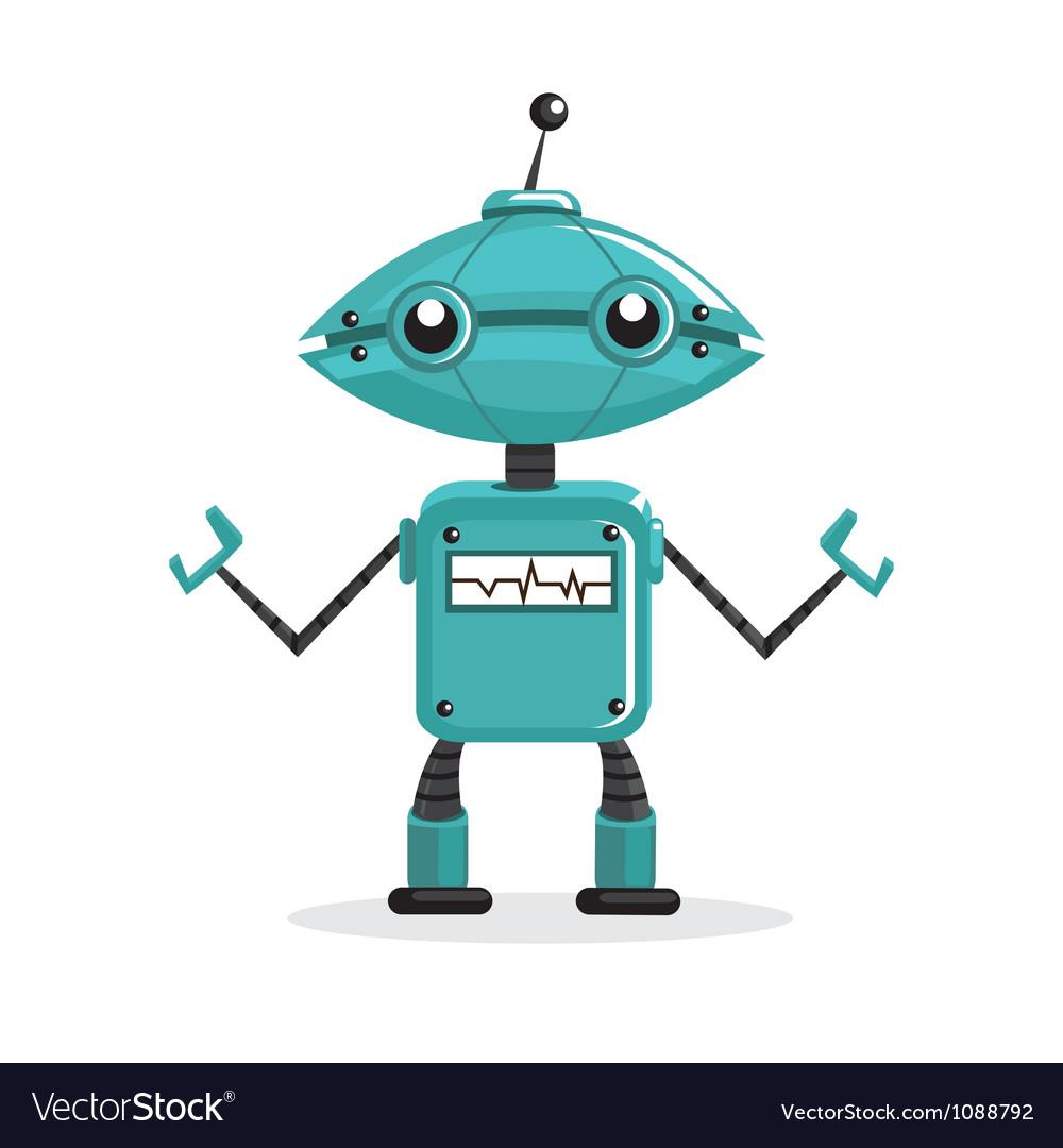 cute cartoon robots royalty free vector image vectorstock rh vectorstock com robot factory miniclip robot factory adidas