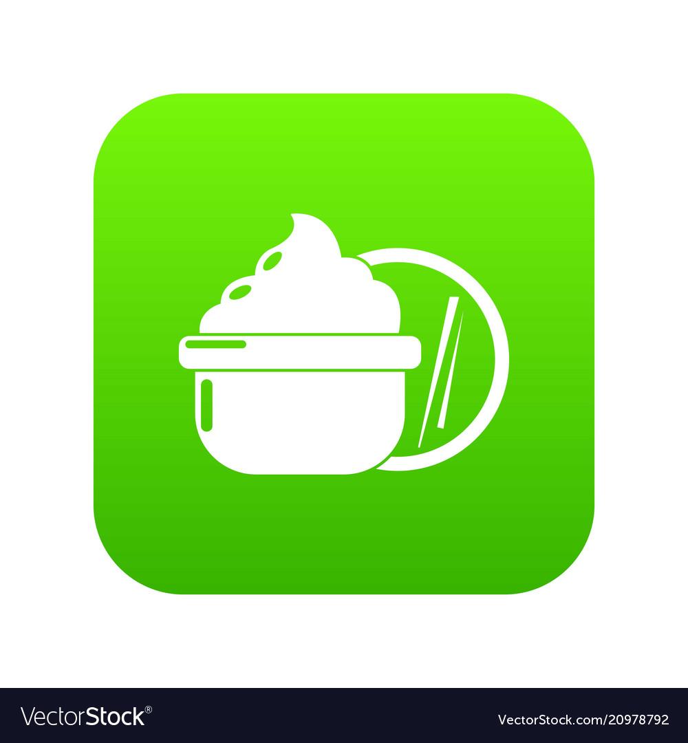 Face cream icon green vector image