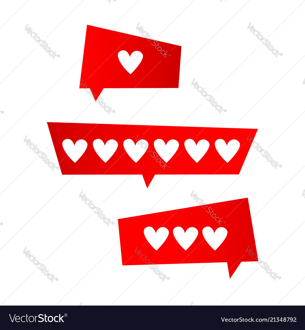 Icon like icon followers hearts set