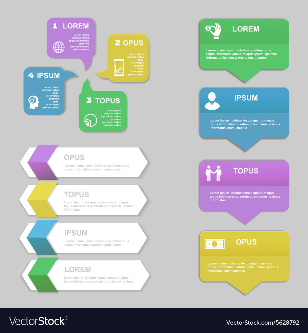 Infographics Design template Numbered banners