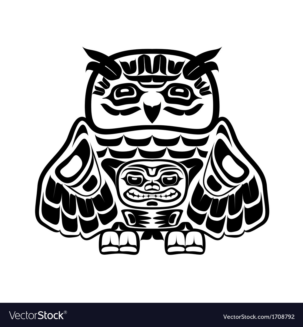 North american native art owl