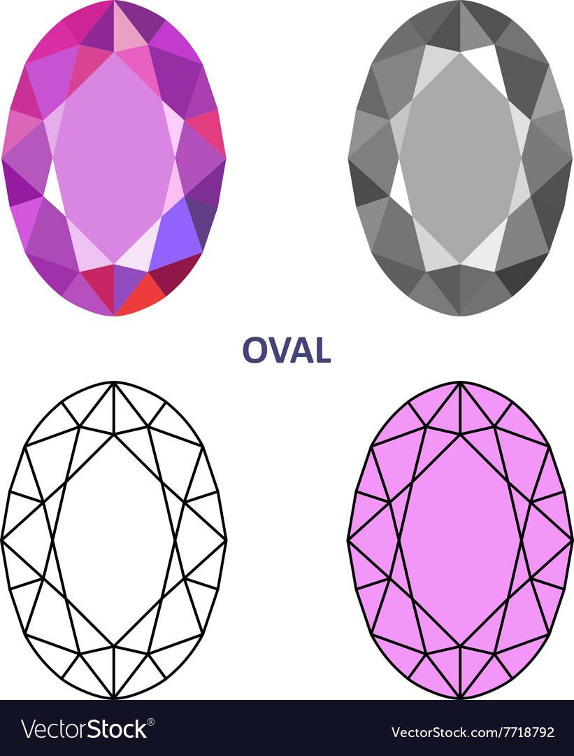 Oval gem cut