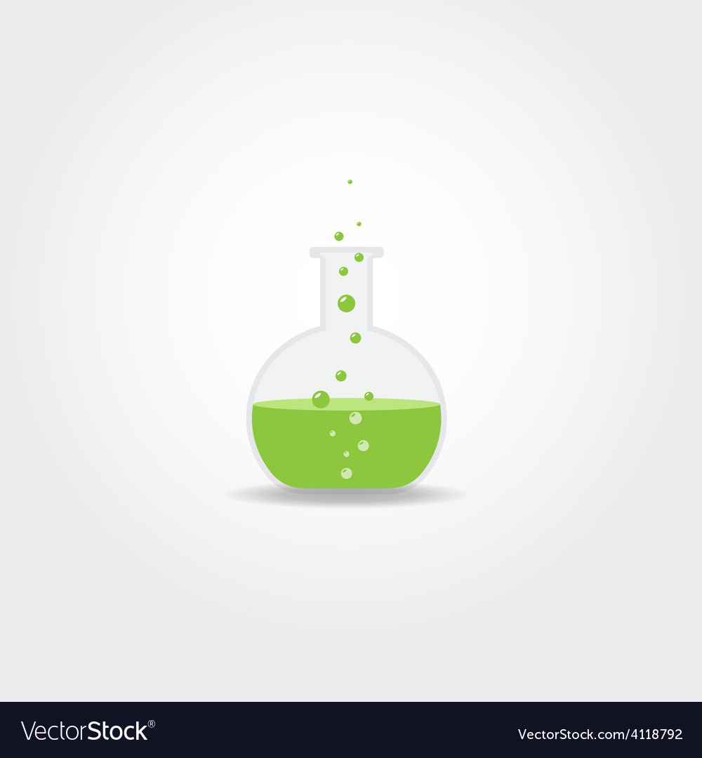 Simple chemistry bulb vector image